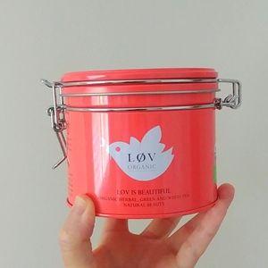 4/$15 - empty LOV tea tin